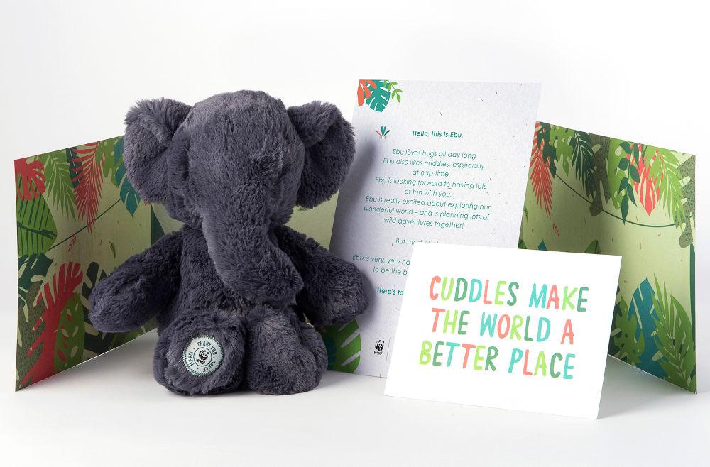 Grey Ebu The Elephant Toy