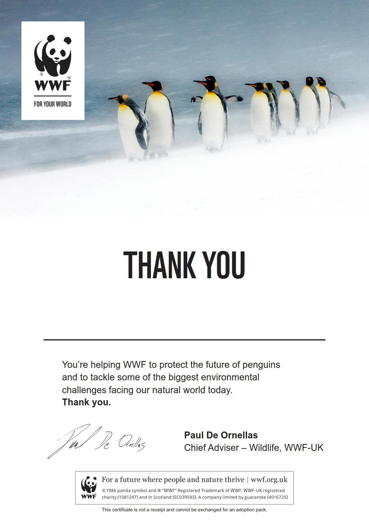 Adopt A Penguin Wwf