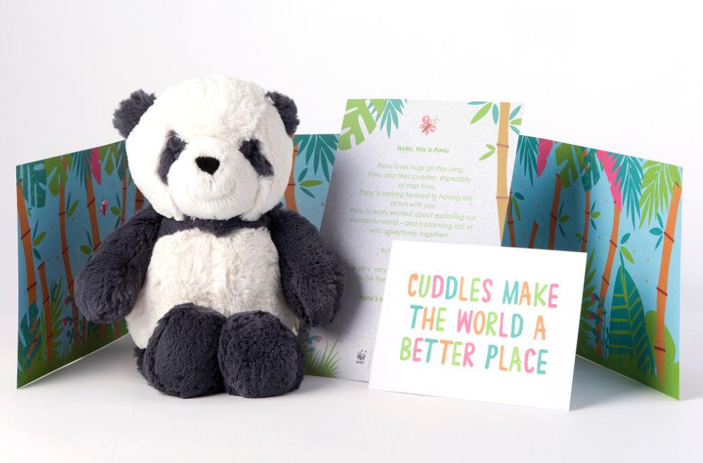 Soft Panda Toy Sat Upright