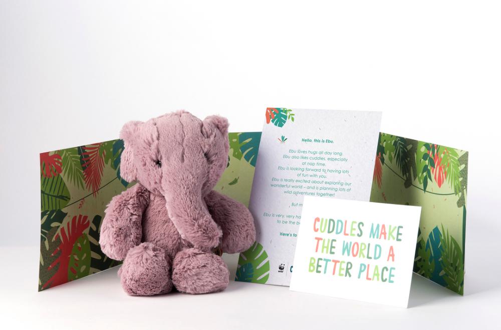 Pink Ebu The Elephant Toy
