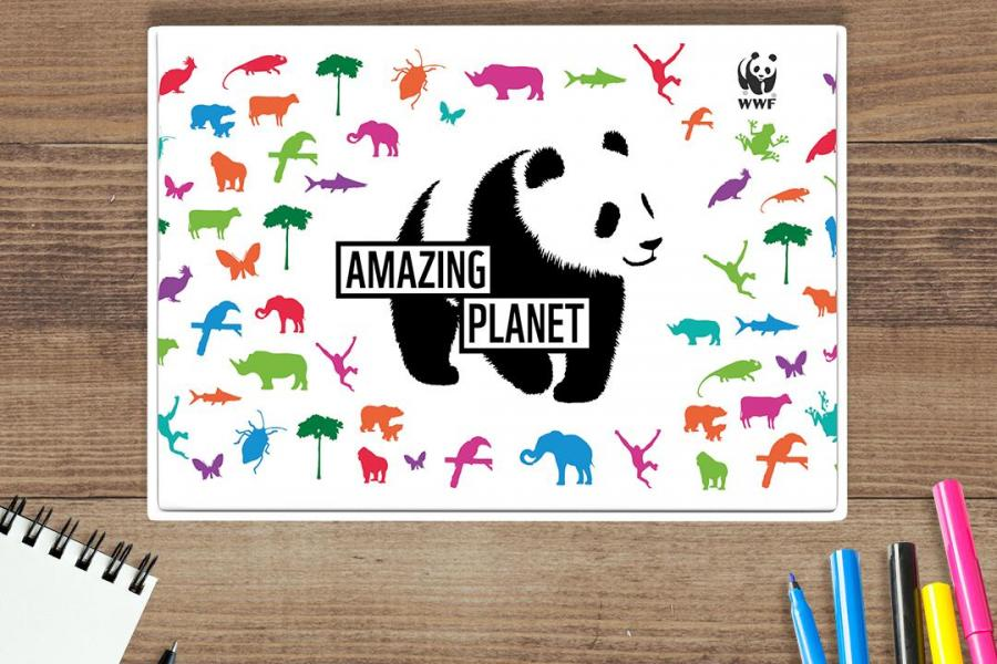 Amazing Planet - WWF Subscription - Welcome Pack on table